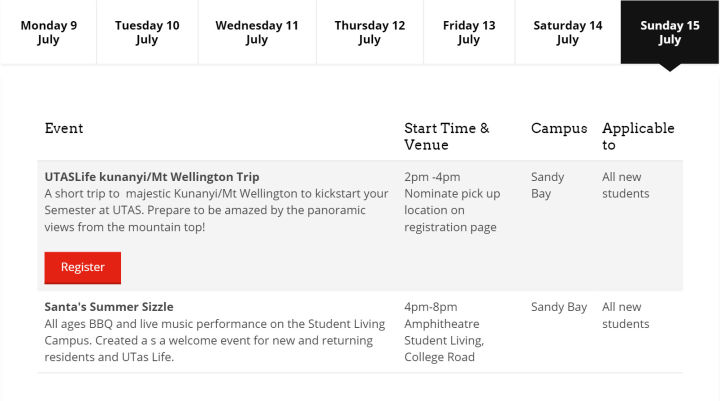 大学迎新周Orientation Week   塔斯马尼亚大学