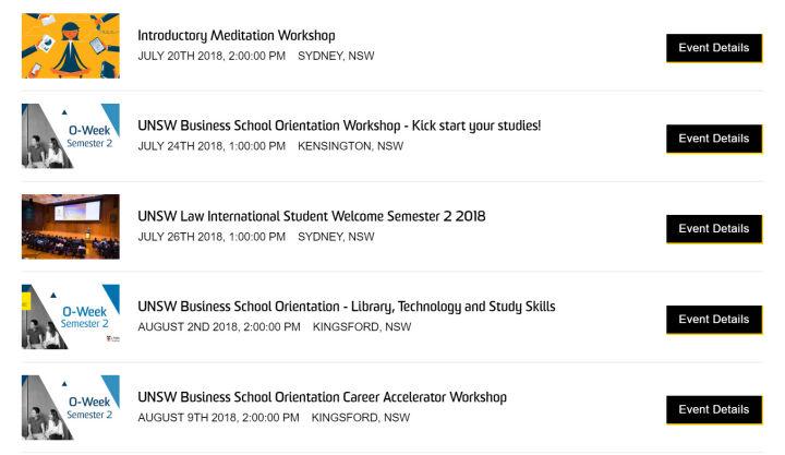 大学迎新周Orientation Week   新南威尔士大学