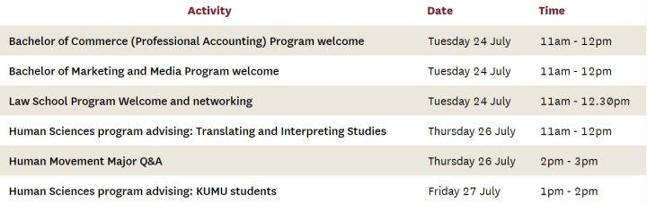 大学迎新周Orientation week | 麦考瑞大学