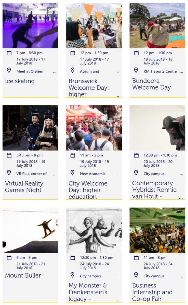 大学迎新周Orientation week | 墨尔本皇家理工大学