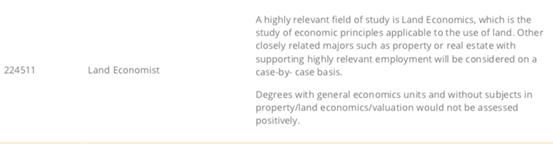 地产也能移民?Land Economist and Valuer了解一下!