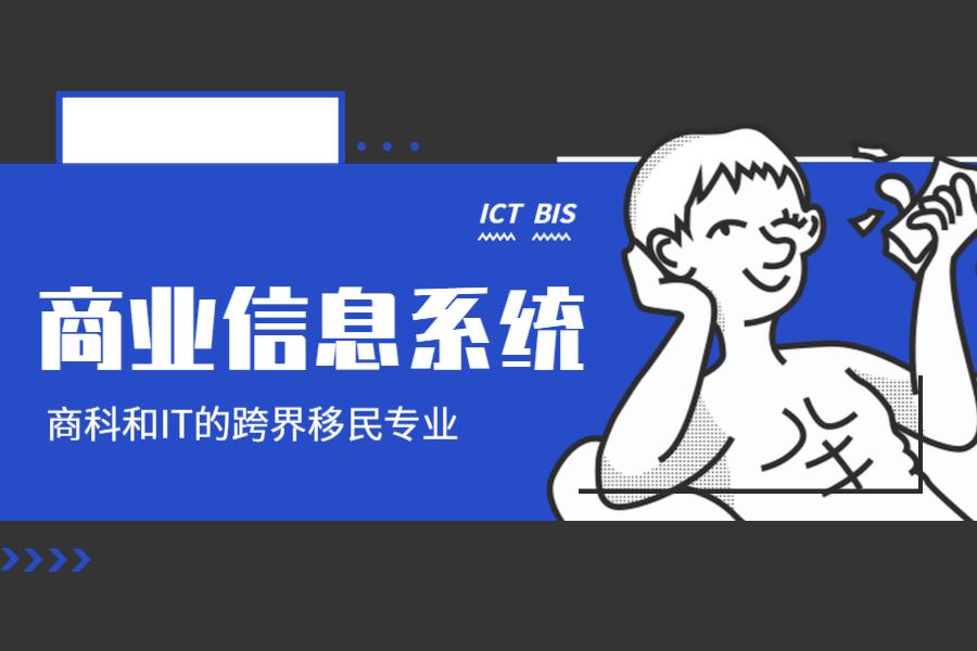 商业信息系统(ICT, BIS, Business Information System) – 商科和IT的跨界移民专业