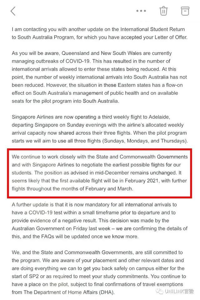 返澳计划2月重启!学生收到确认邮件!澳洲国际学生人数损失惨重,空置率暴升!留学生请愿引发澳各界关注,近6000人已签名!
