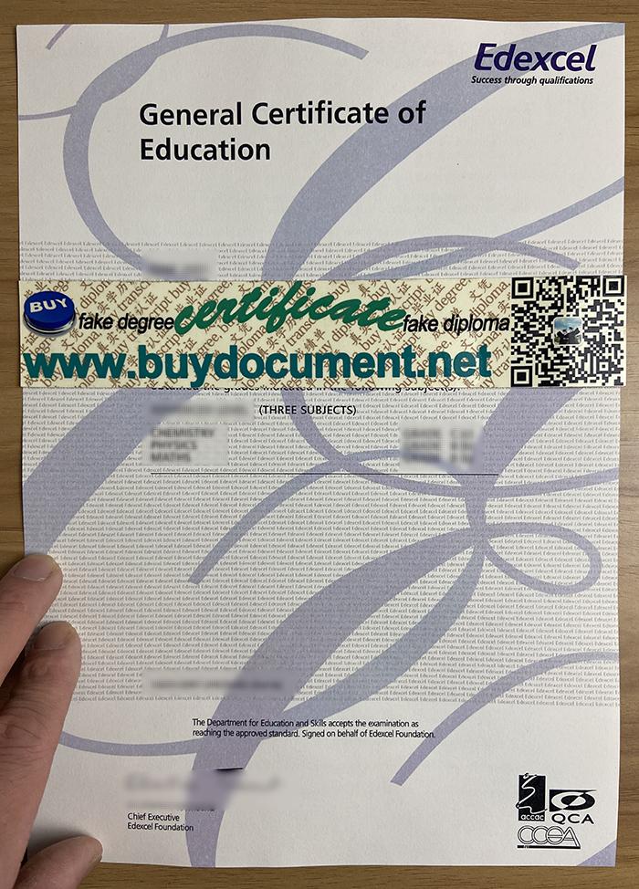 Edexcel-GCE-Certificate