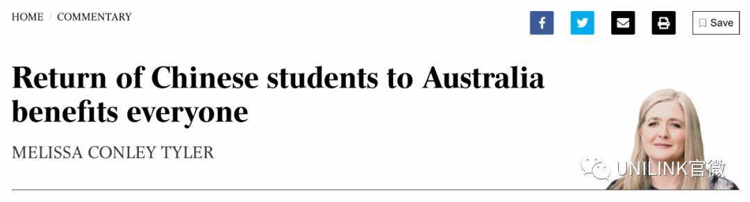 """""""让中国留学生返澳,对澳洲有好处!""""墨大急呼!市长也正制定计划..."""