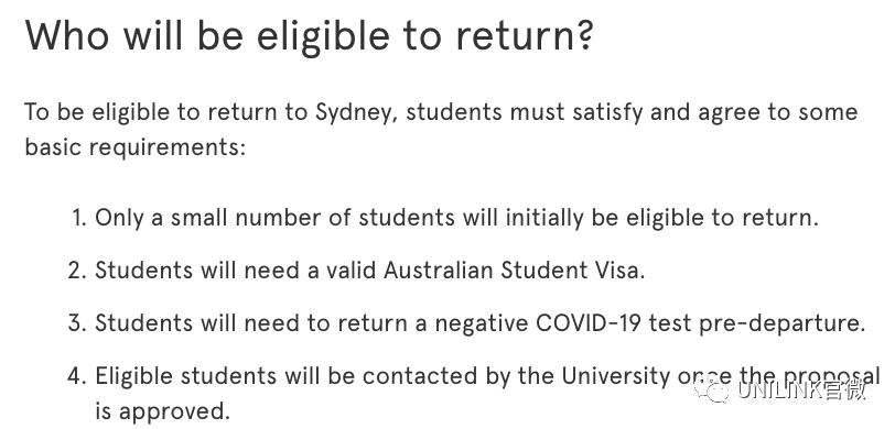 返澳更多细节!中韩泰尼首先试点,这些学生优先。首批将进行包机,隔离费用由大学提供!