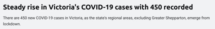 全澳破2000例,新增再次暴涨!新州1599,维州450,堪培拉15。全澳逐步放宽限制。