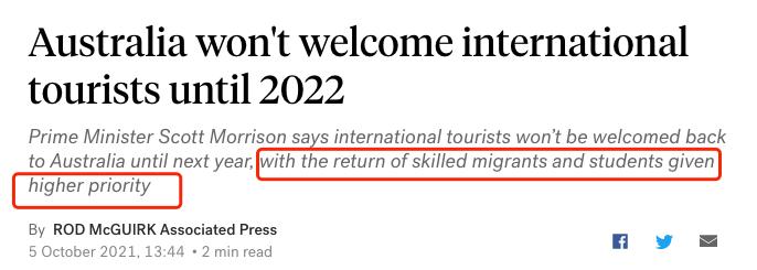 重磅!莫里森确认:留学生返澳优先考虑!中国留学生仍在期盼回到校园